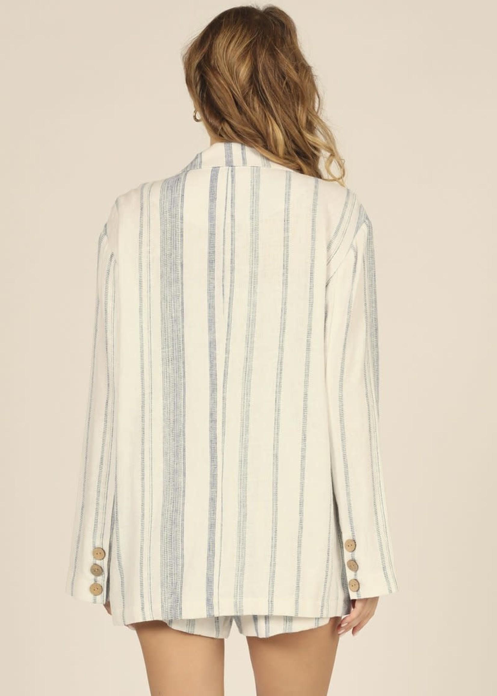 Vintage Havana Sailor Stripe Linen Blazer