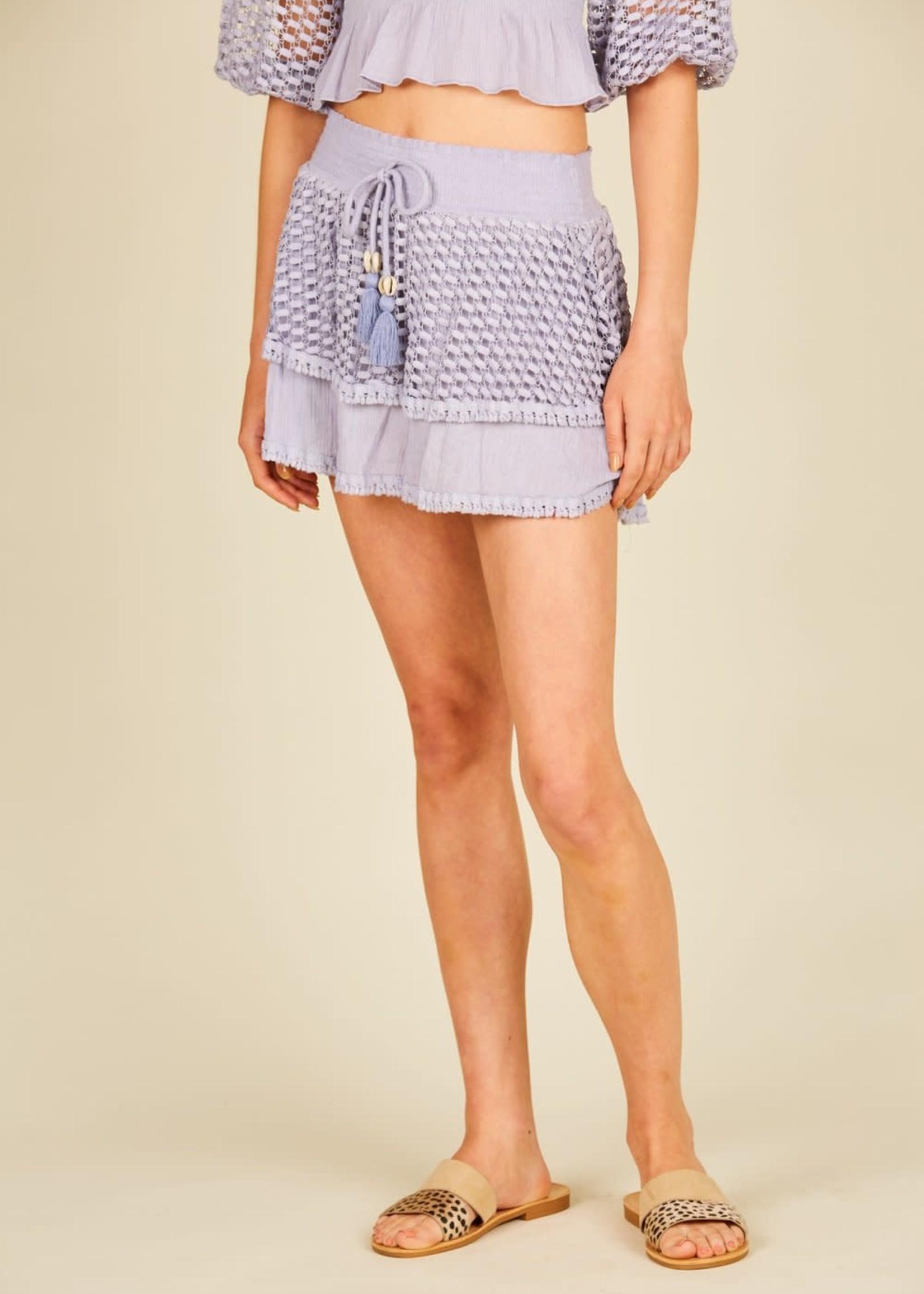Surf Gypsy Dusty Lavender Eyelet Skirt