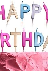 Multicolor Happy Birthday Candles