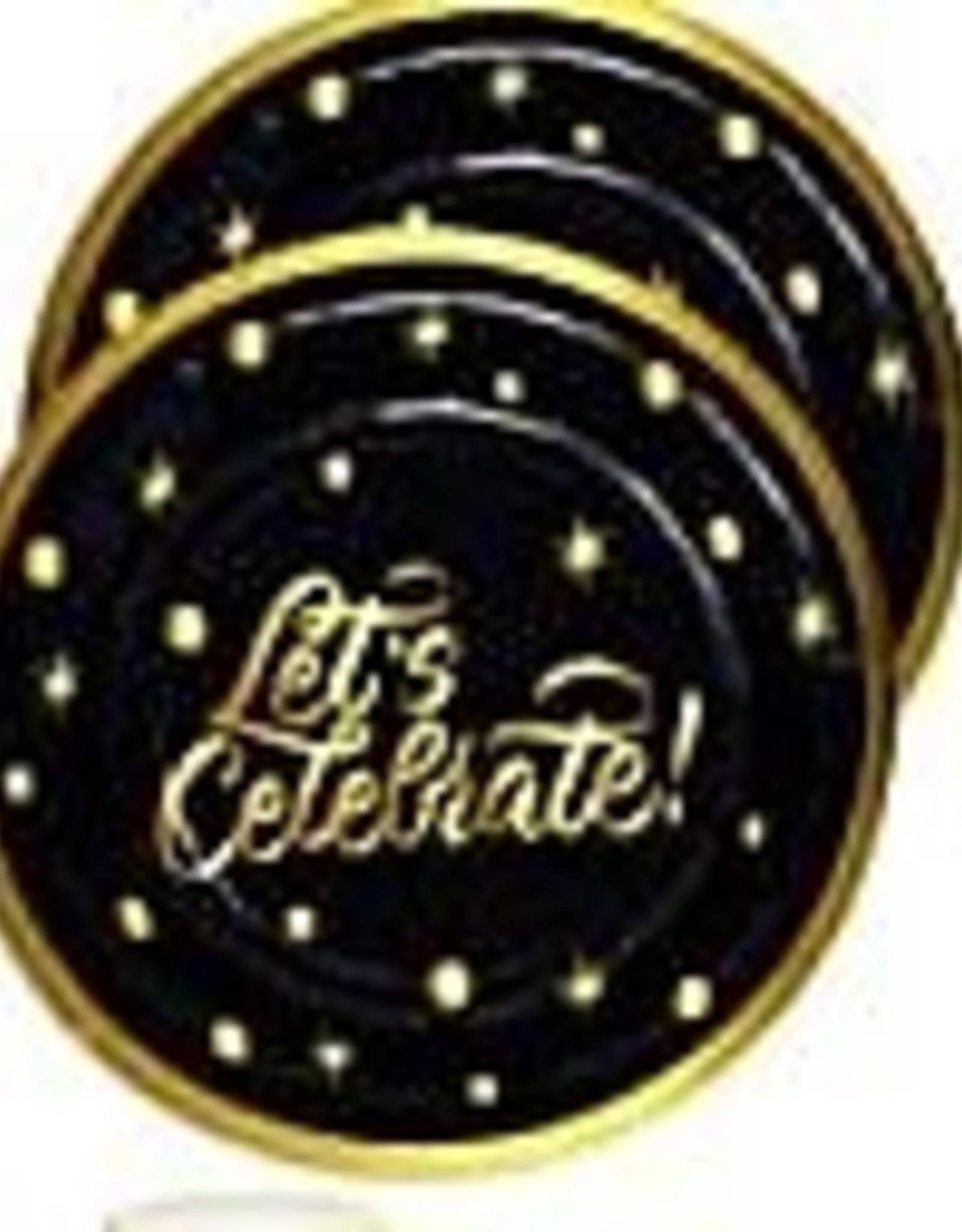 "Let's Celebrate 7"" Paper Plates 8ct"