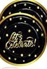 "Let's Celebrate 9"" Paper Plates 8ct"