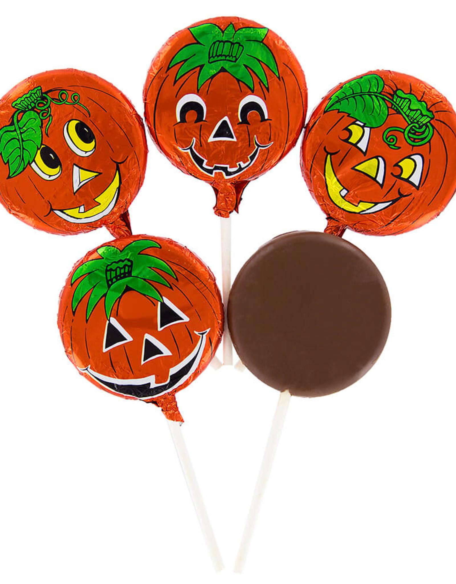 Solid Milk Chocolate Pumpkin Lollipop