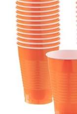 Plastic Orange Cups 12 pk