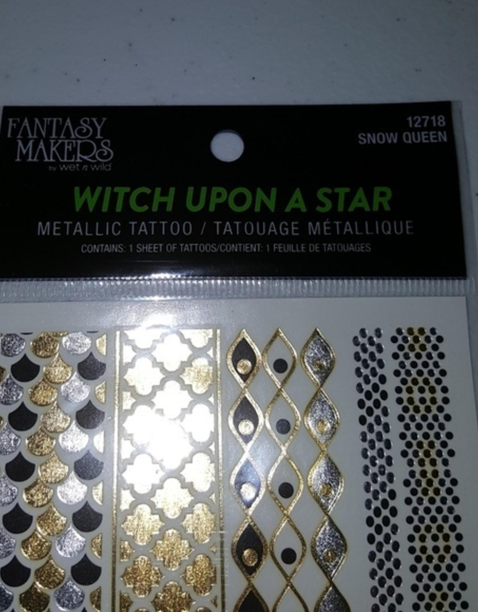Snow Queen Metallic Temporary Tattoo