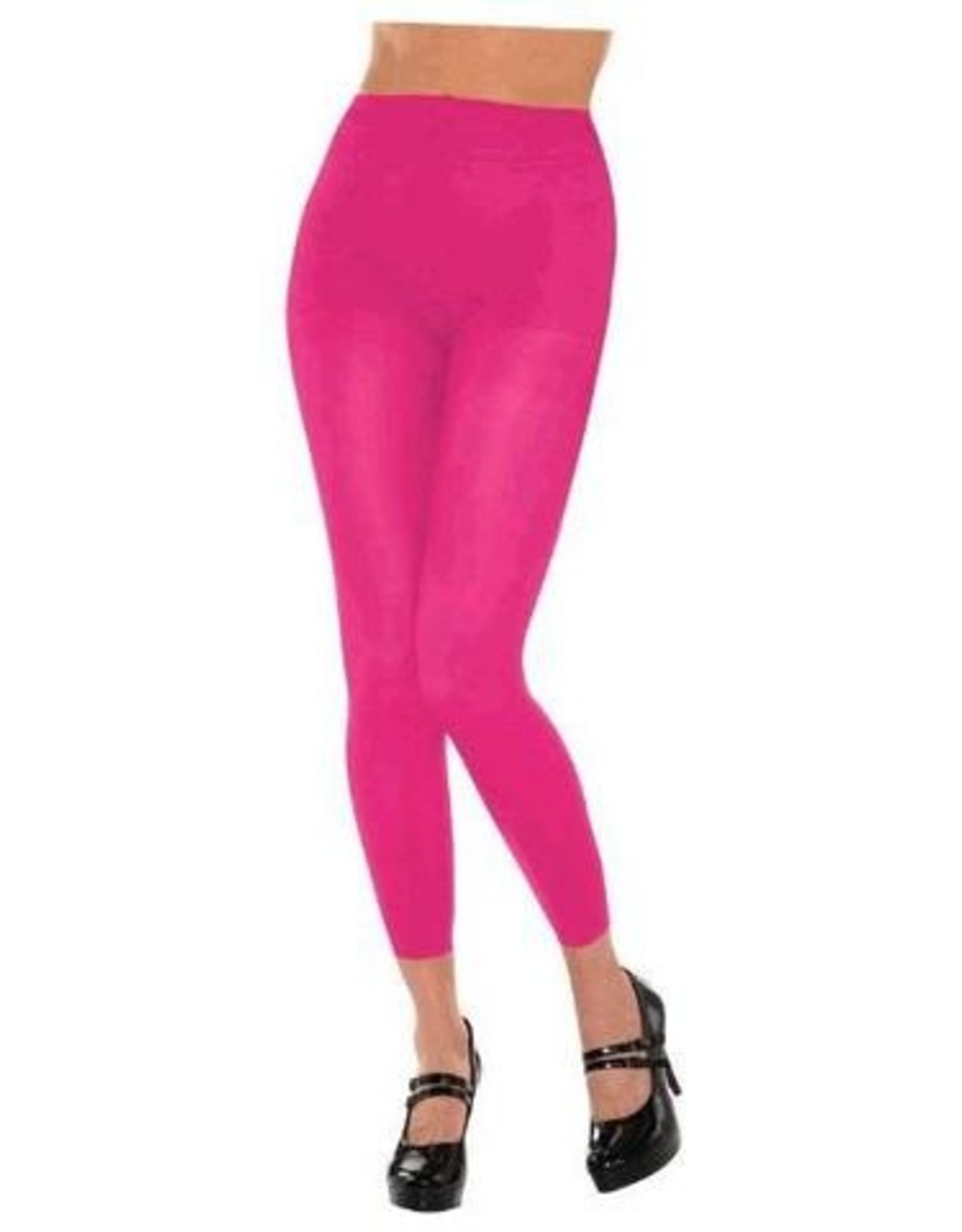 Footless Pink Tights Standard Adult