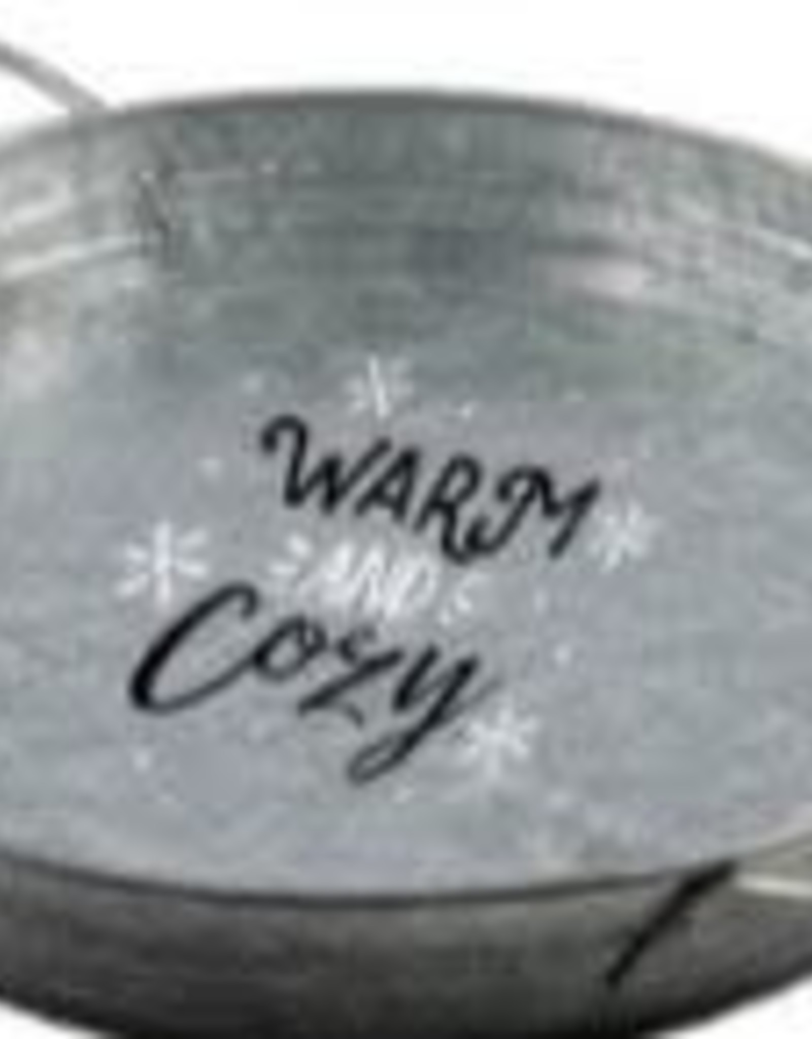 Warm and Cozy Round Serving Tray with Handles