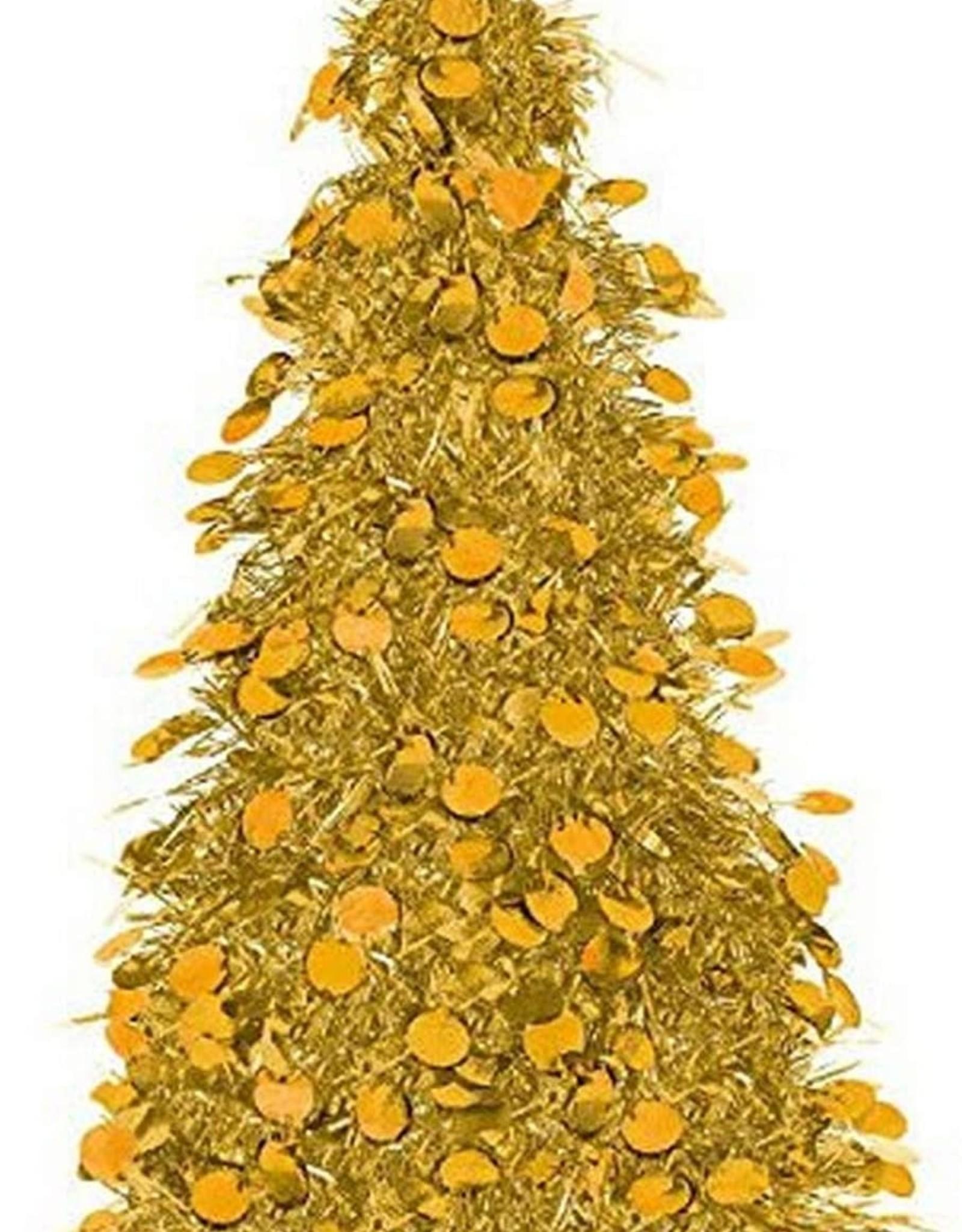 "Gold tinsel tree 18"""