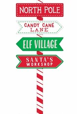 North Pole Directional MDF Sign