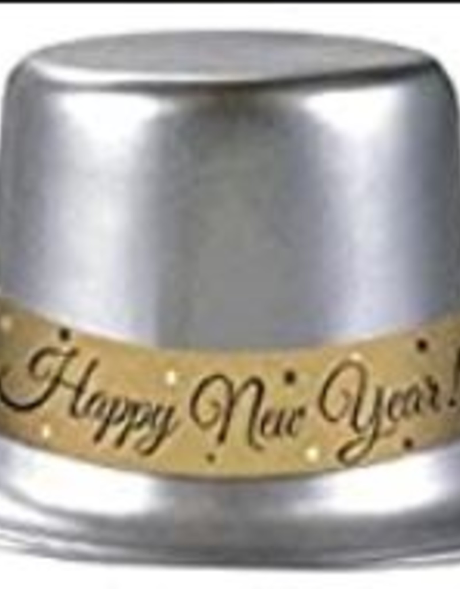 Silver New Years Top Hat