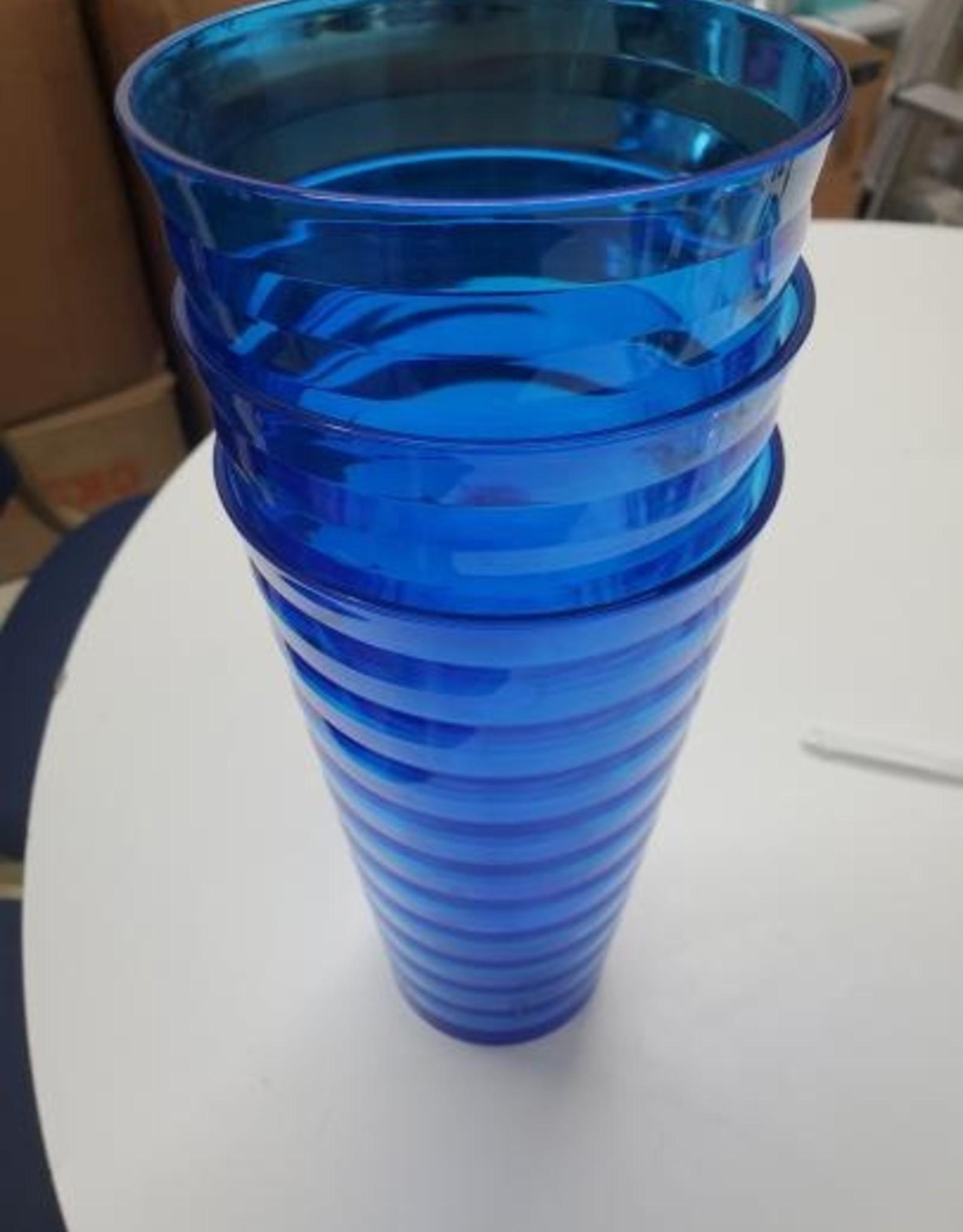 Blue Hard Plastic Cups