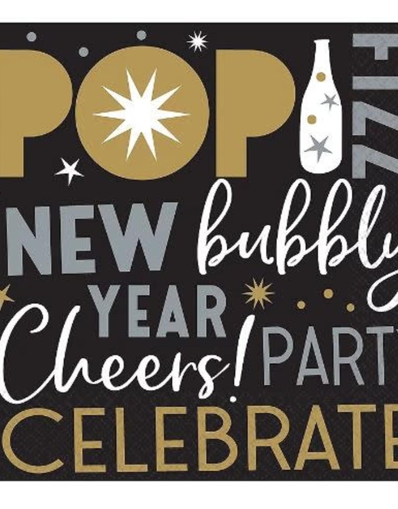 Celebrate  New Year Beverage Napkin