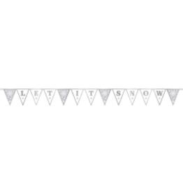 Snowflake Glitter Pendant Banner
