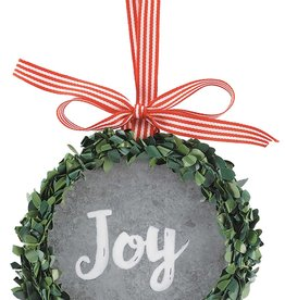 Metal  Joy  Wreath Ornament