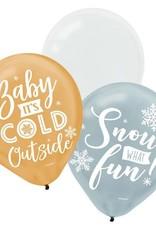 Snow What Fun Latex Balloon
