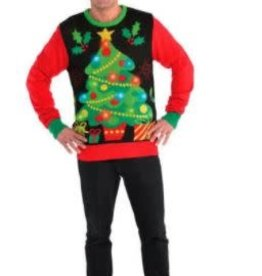 Light Up Tree Ugly Sweater Adult L/XL