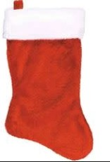 Plush Red and White Stocking