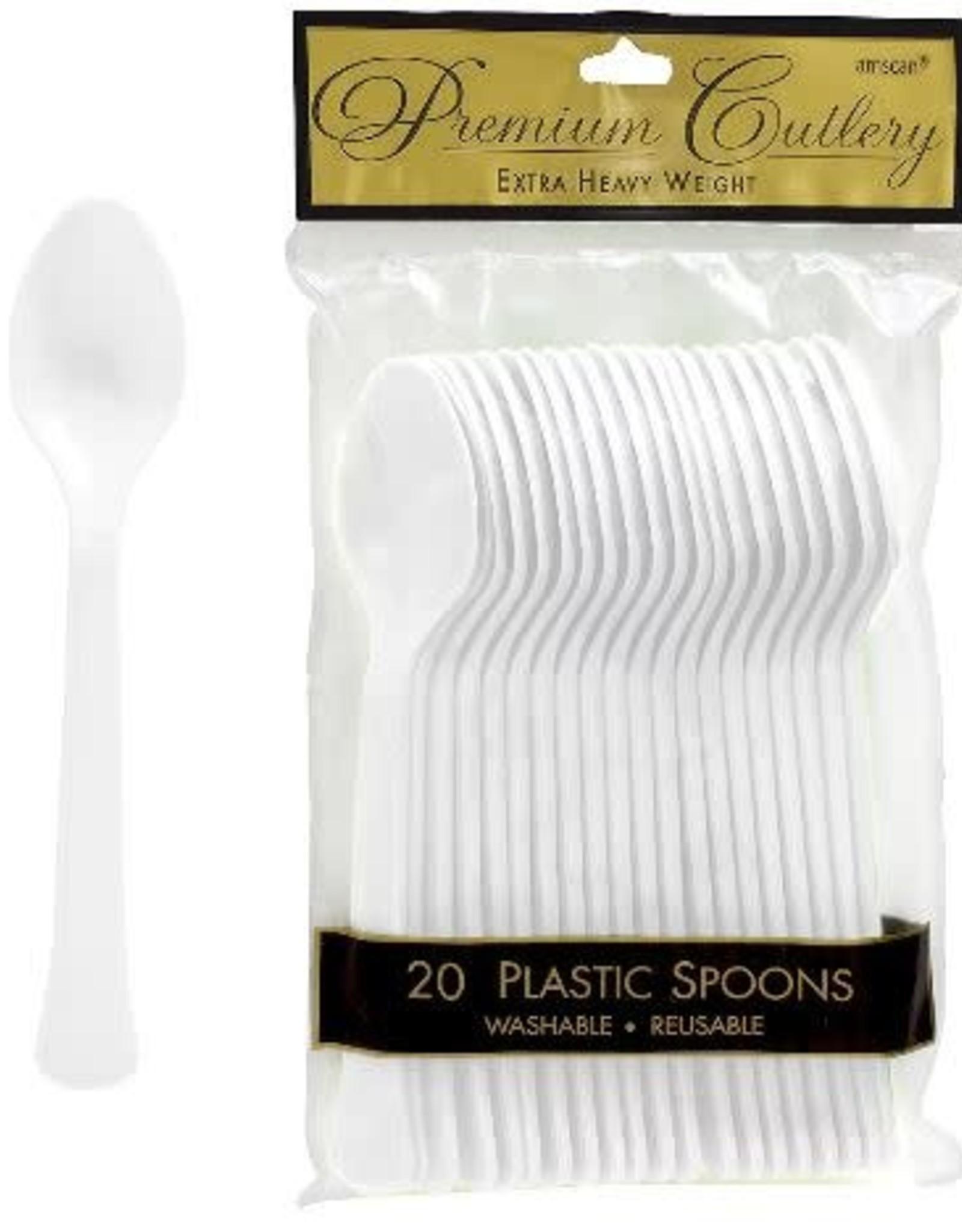 White Plastic Spoons