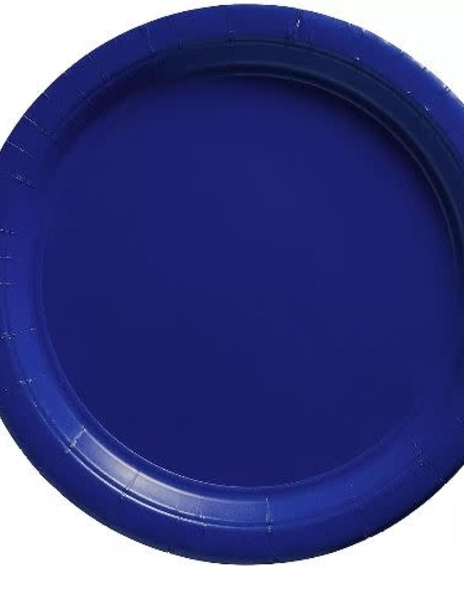 "Royal Blue 9""  Paper Plates 20ct"