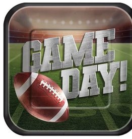 """Game Day 9"""" square  Paper Plates 18ct"""