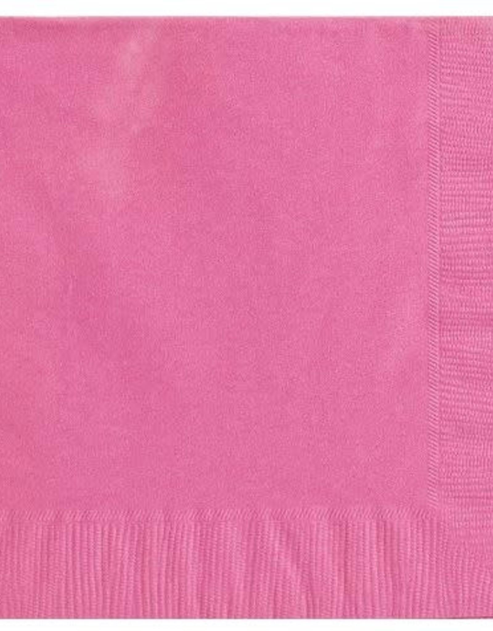 Bright Pink 2 ply Dinner Napkin 50 ct