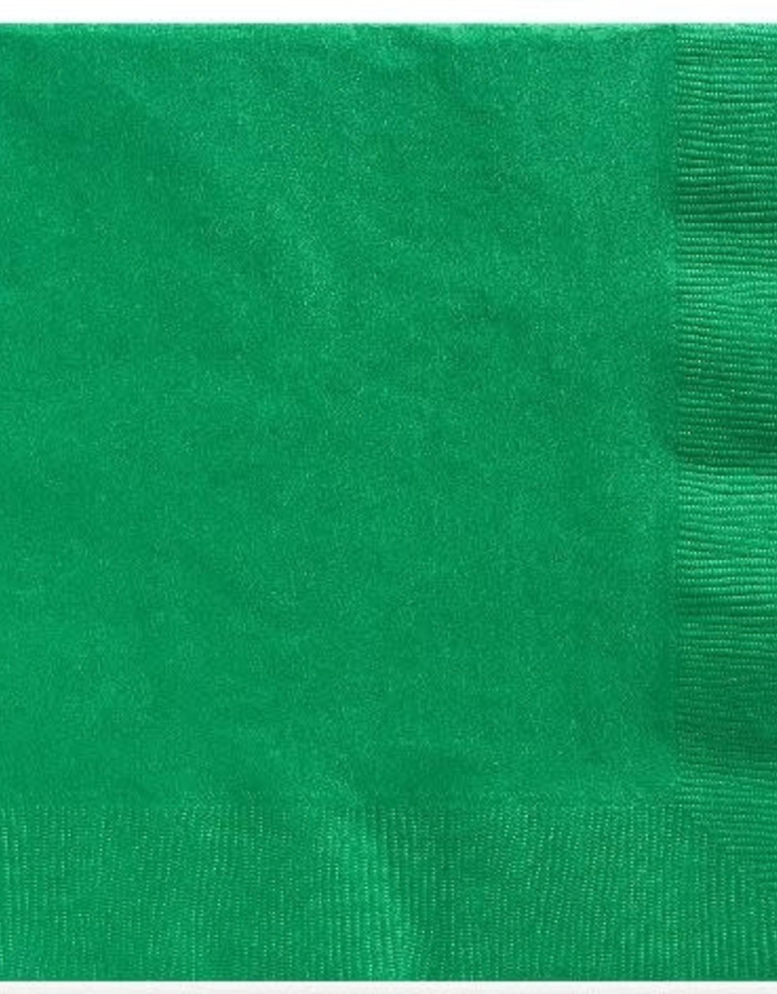 Festive green 2 ply dinner napkins