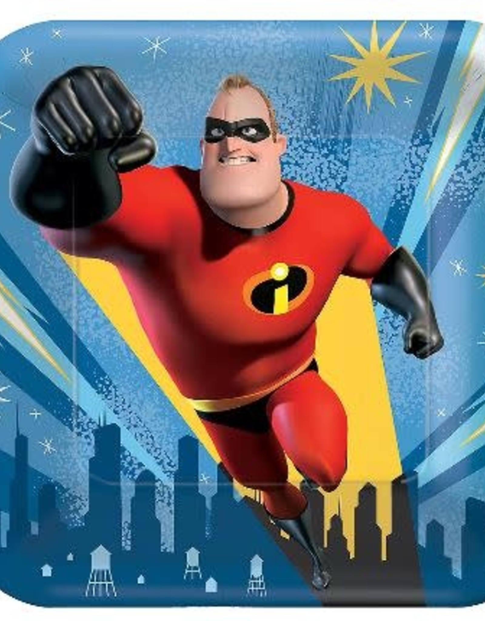 The Incredibles 7 in Plate 8 ct