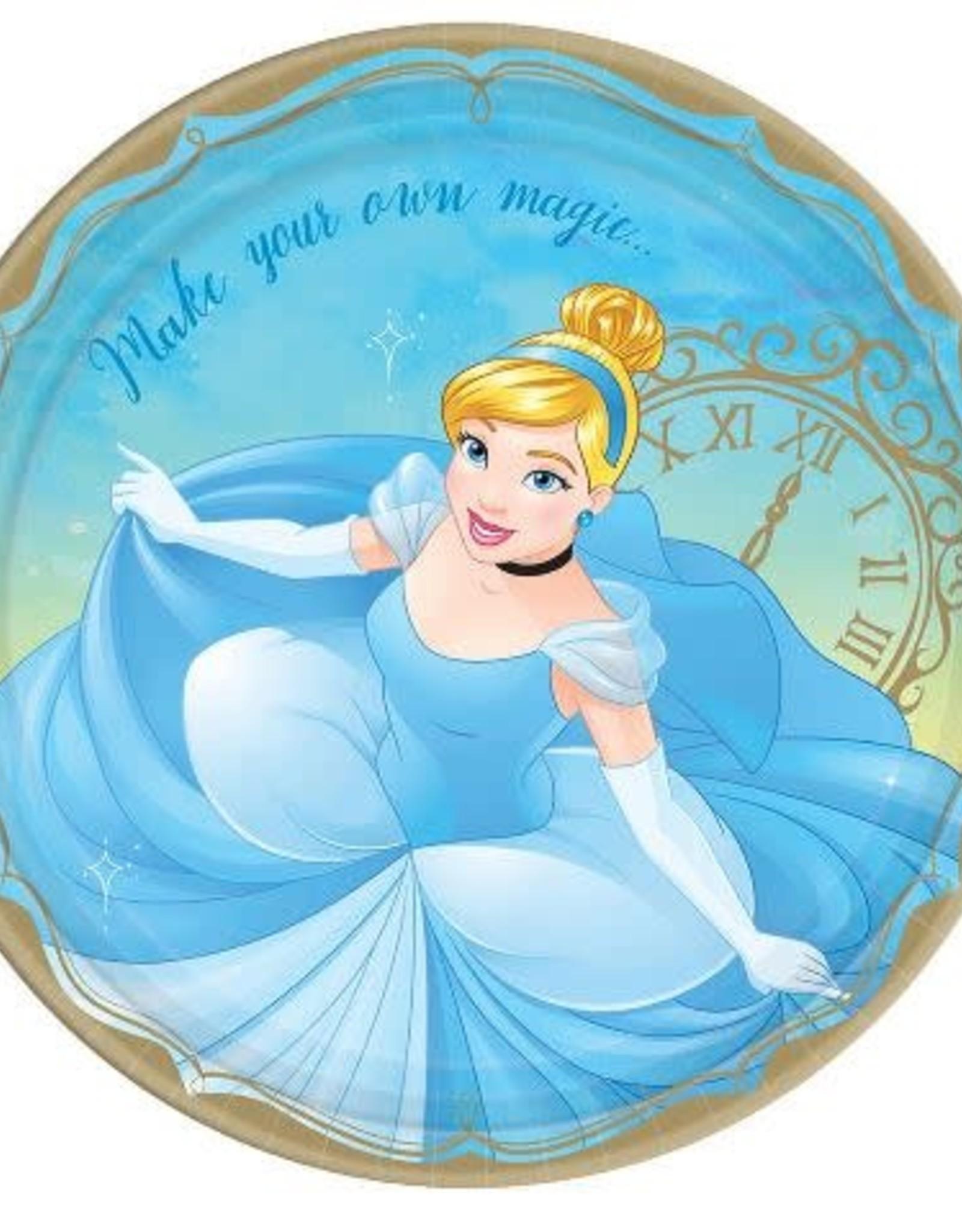 "Cinderella 9 "" Paper Plates 8 ct"