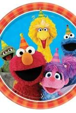 Sesame Street 9 in Plate 8 ct