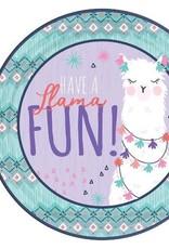 """Llama Fun 9""""  Paper Plates 8 ct"""
