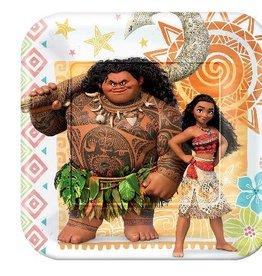 "Disney Moana 7 "" Paper Plates 8 ct"