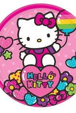 """Hello Kitty 7 """" Paper Plates 8 ct"""