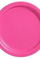 """Bright Pink 9"""" Paper Plates 20ct"""
