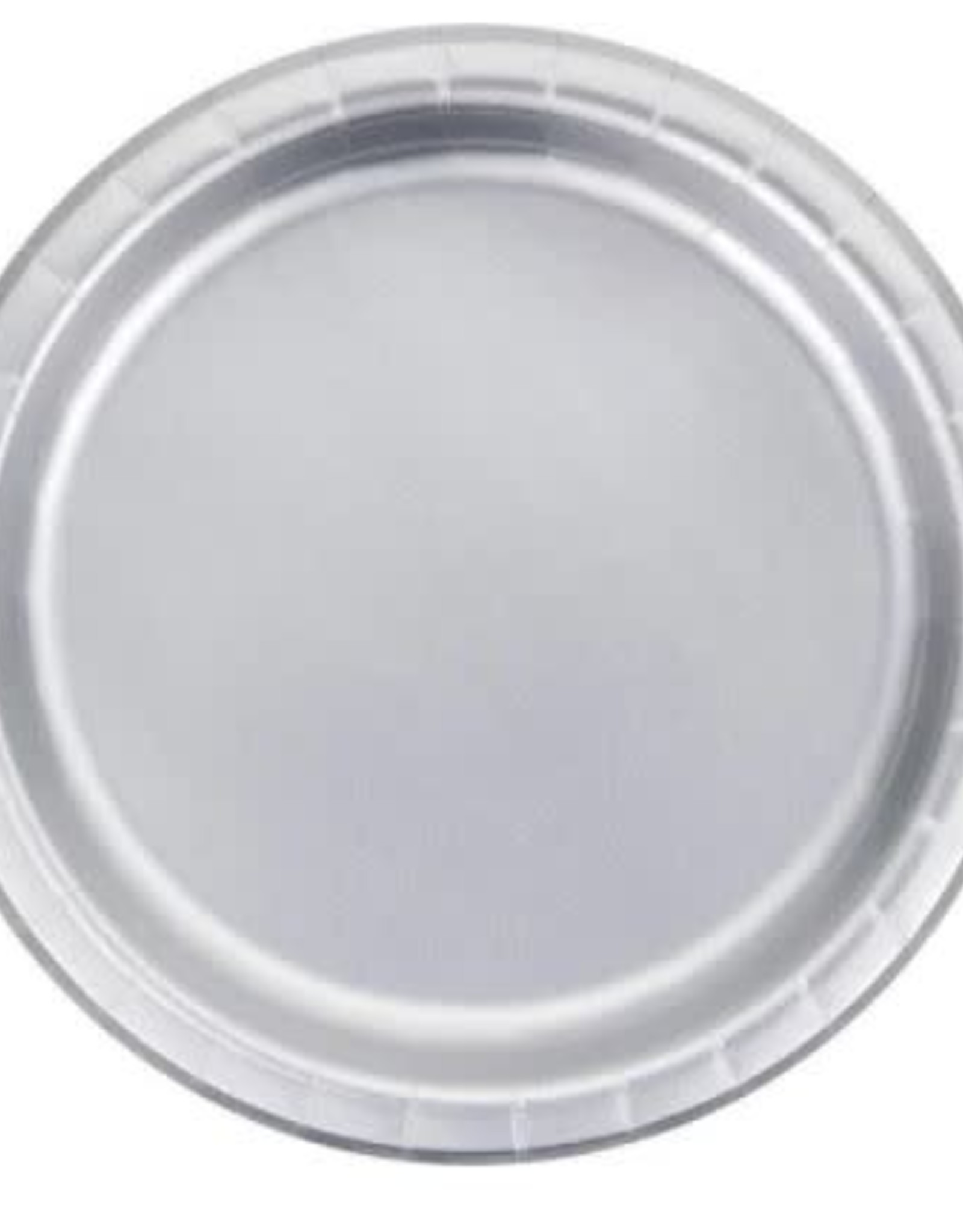 """Plate 9"""" SILVER"""