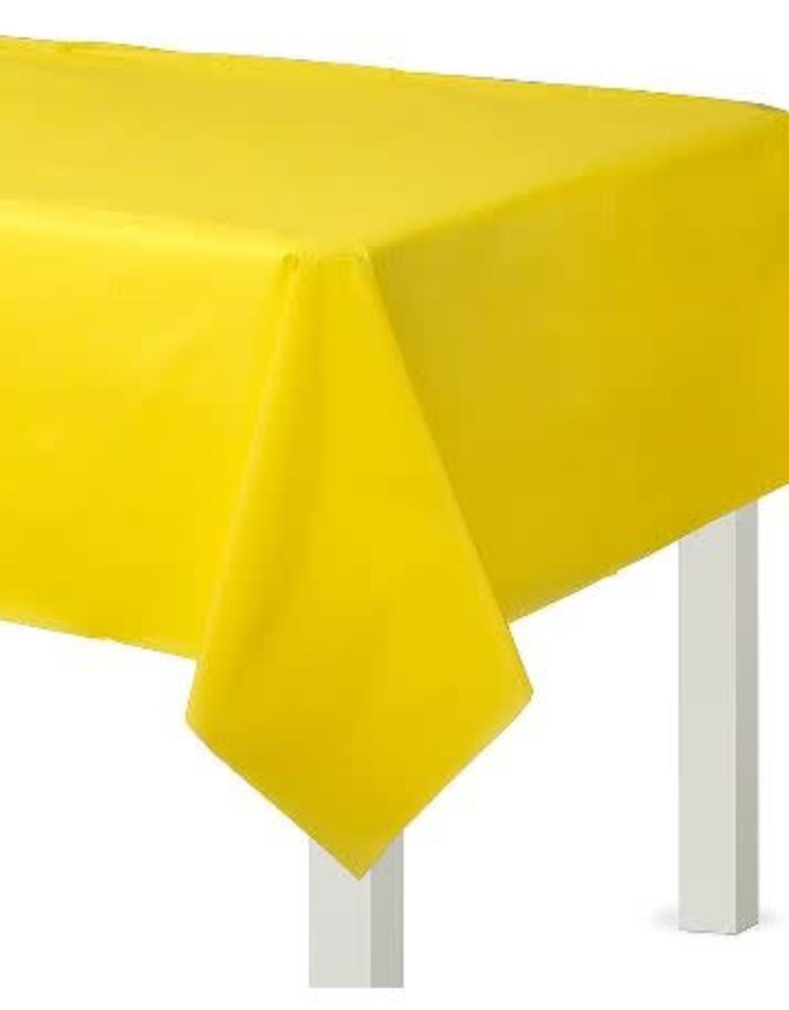 Plastic Yellow Tablecloth  54 x 108