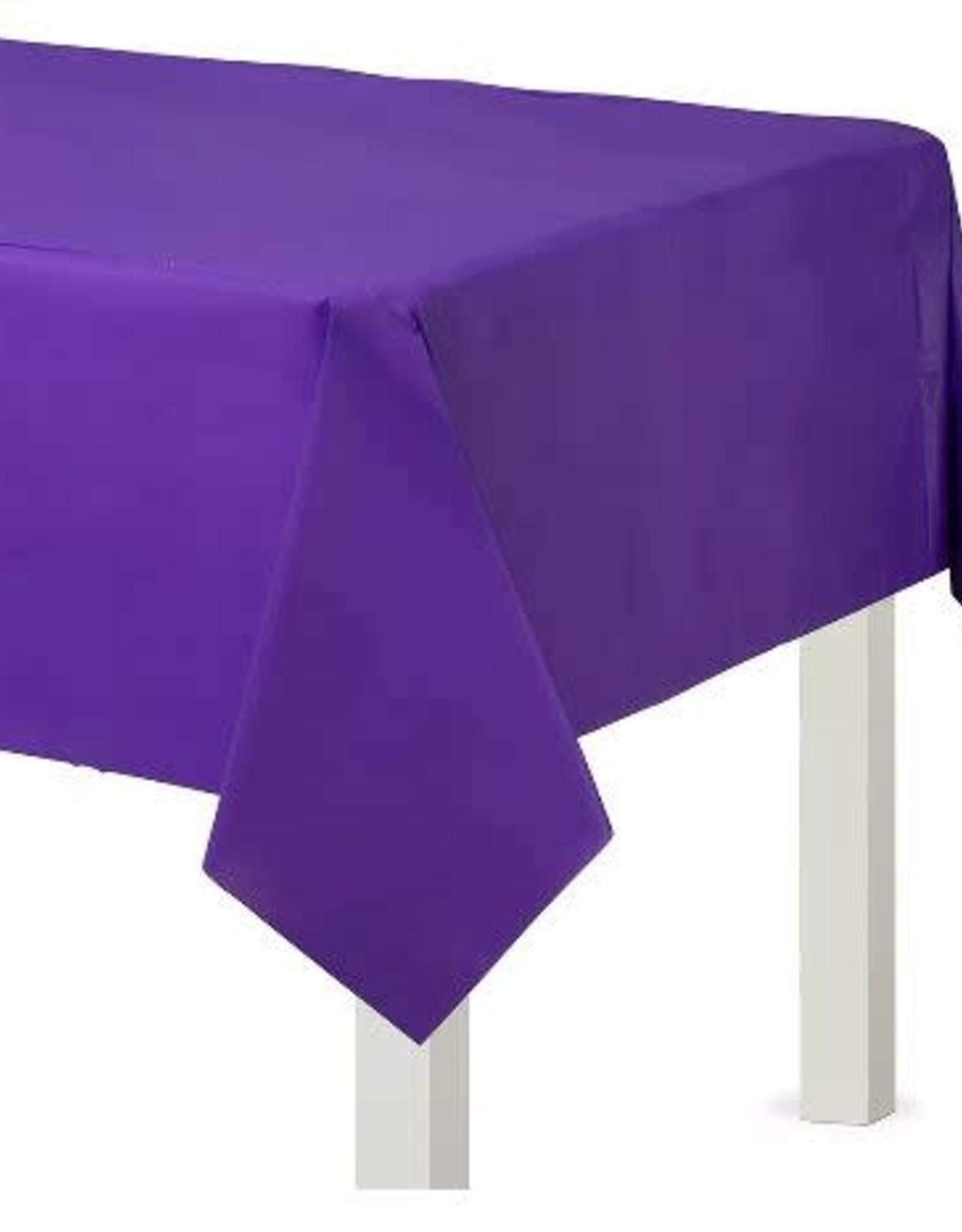 Plastic New Purple Tablecloth 54 x 108 Rectangle