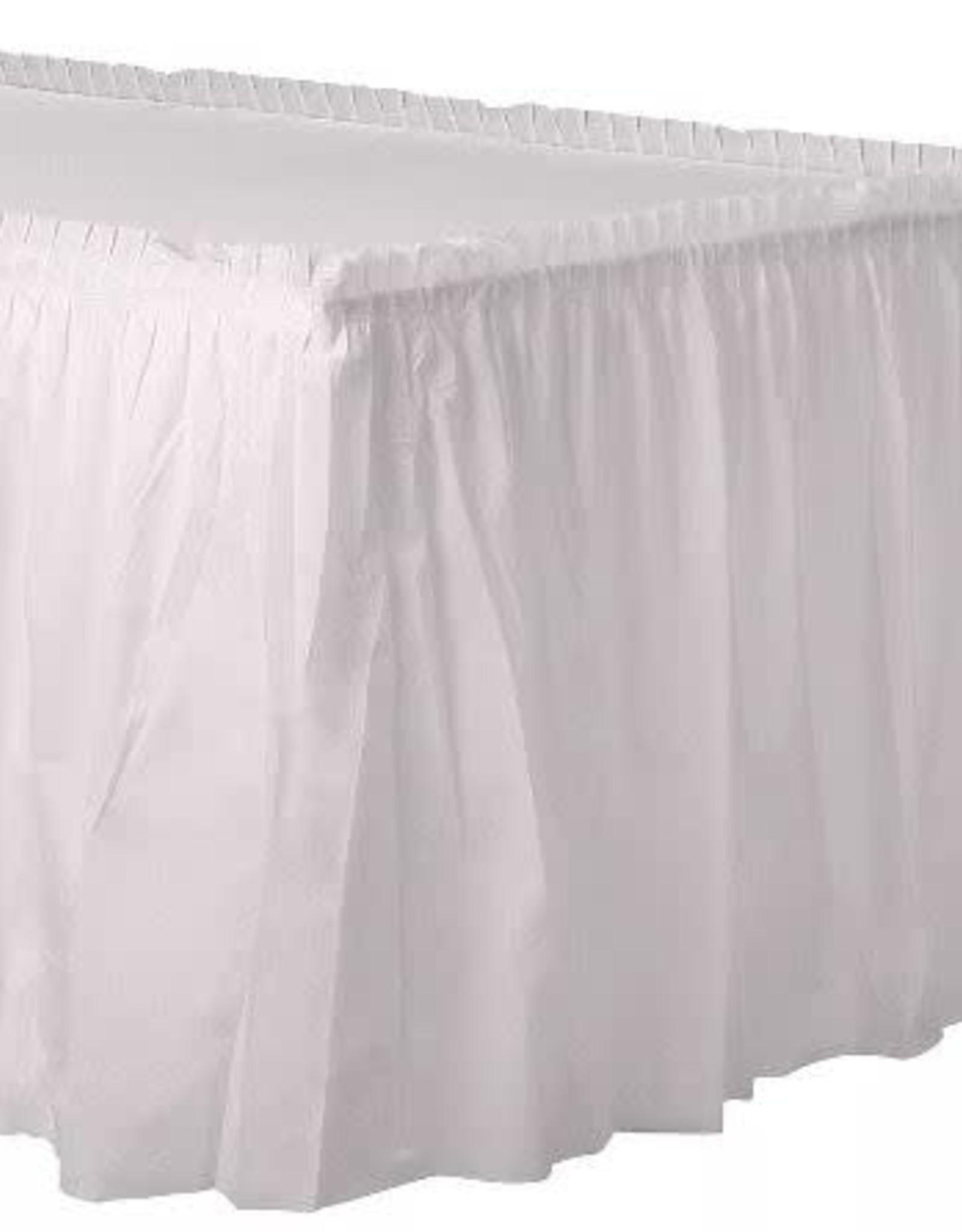 Plastic White table Skirt 29 x 168