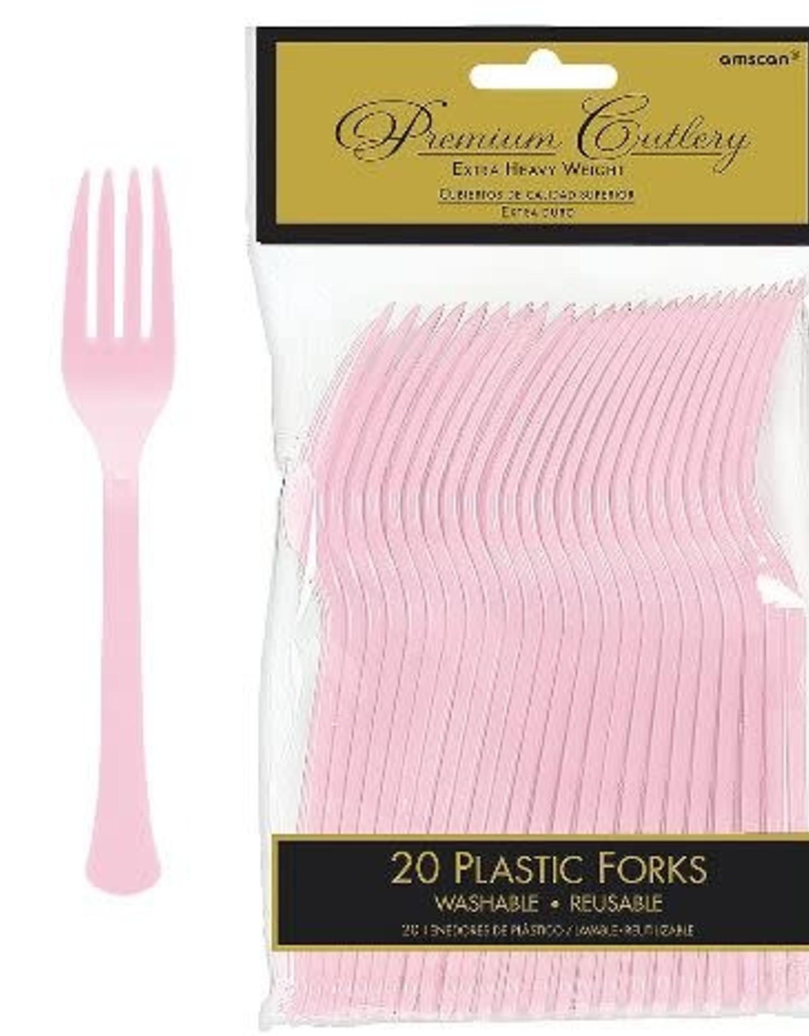 Light Pink Forks 20 count