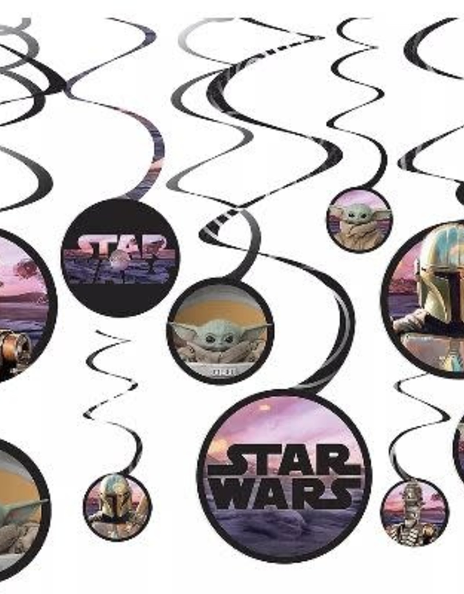 The Mandolorian Star Wars Swirl Decorations