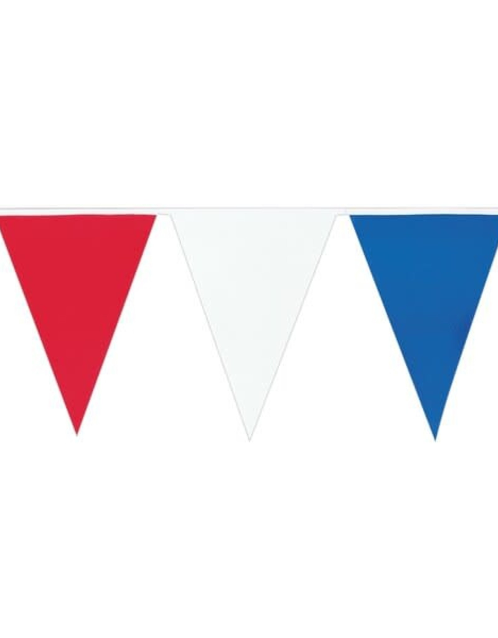 Red White and Blue outdoor Banner 25'