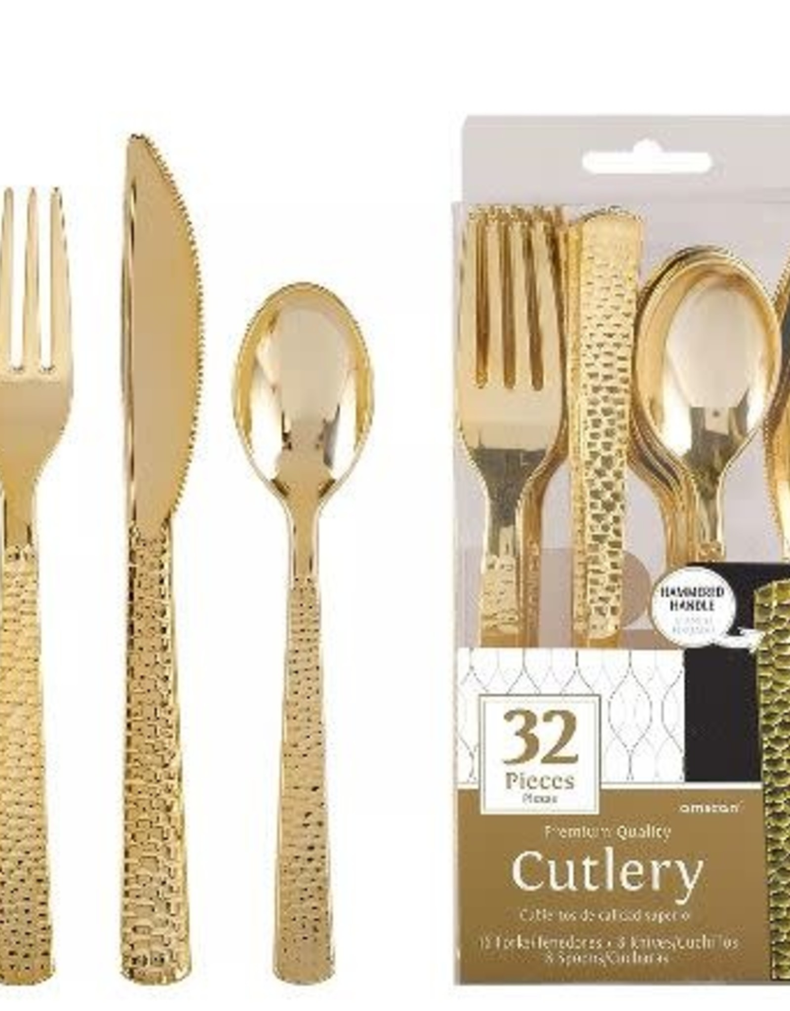 Gold  Cutlery Assorted  32 pieces