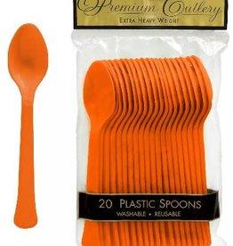 Plastic Orange Spoon