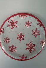 "Joyful Snowflakes 6"" Paper Plates  8ct"
