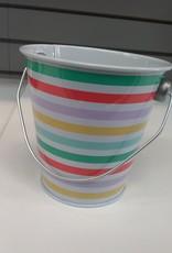 Striped Tin Treat Pail
