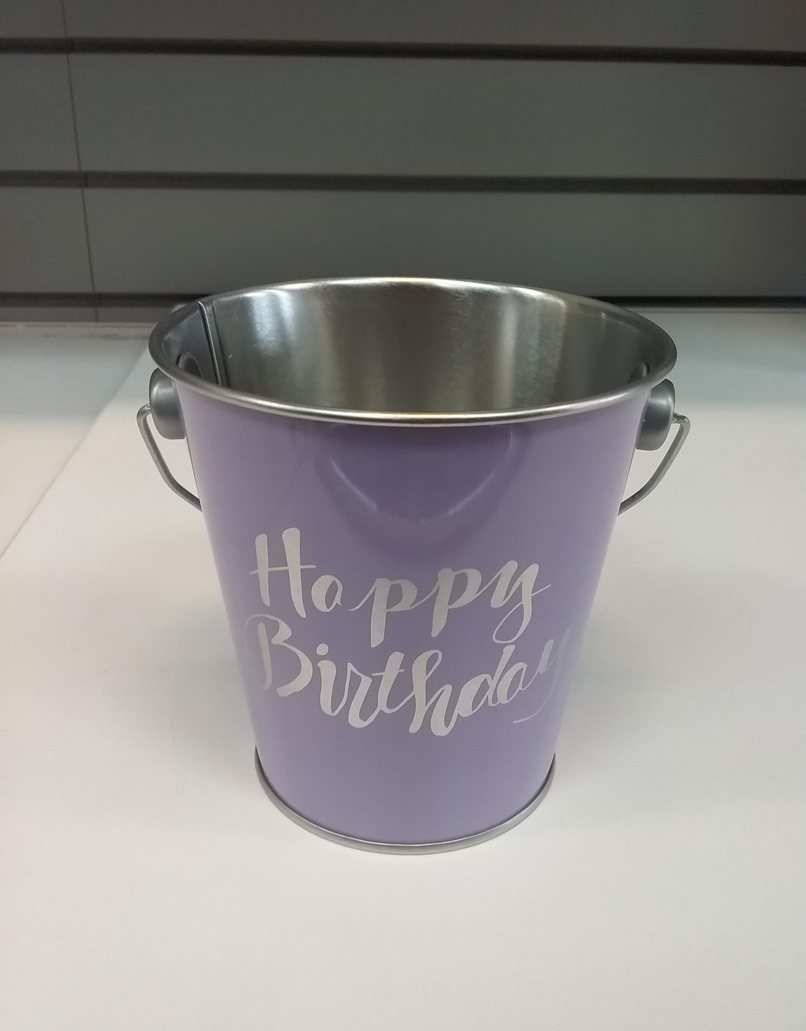 Happy Birthday Treat Pail Purple