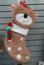Plush Reindeer Stocking