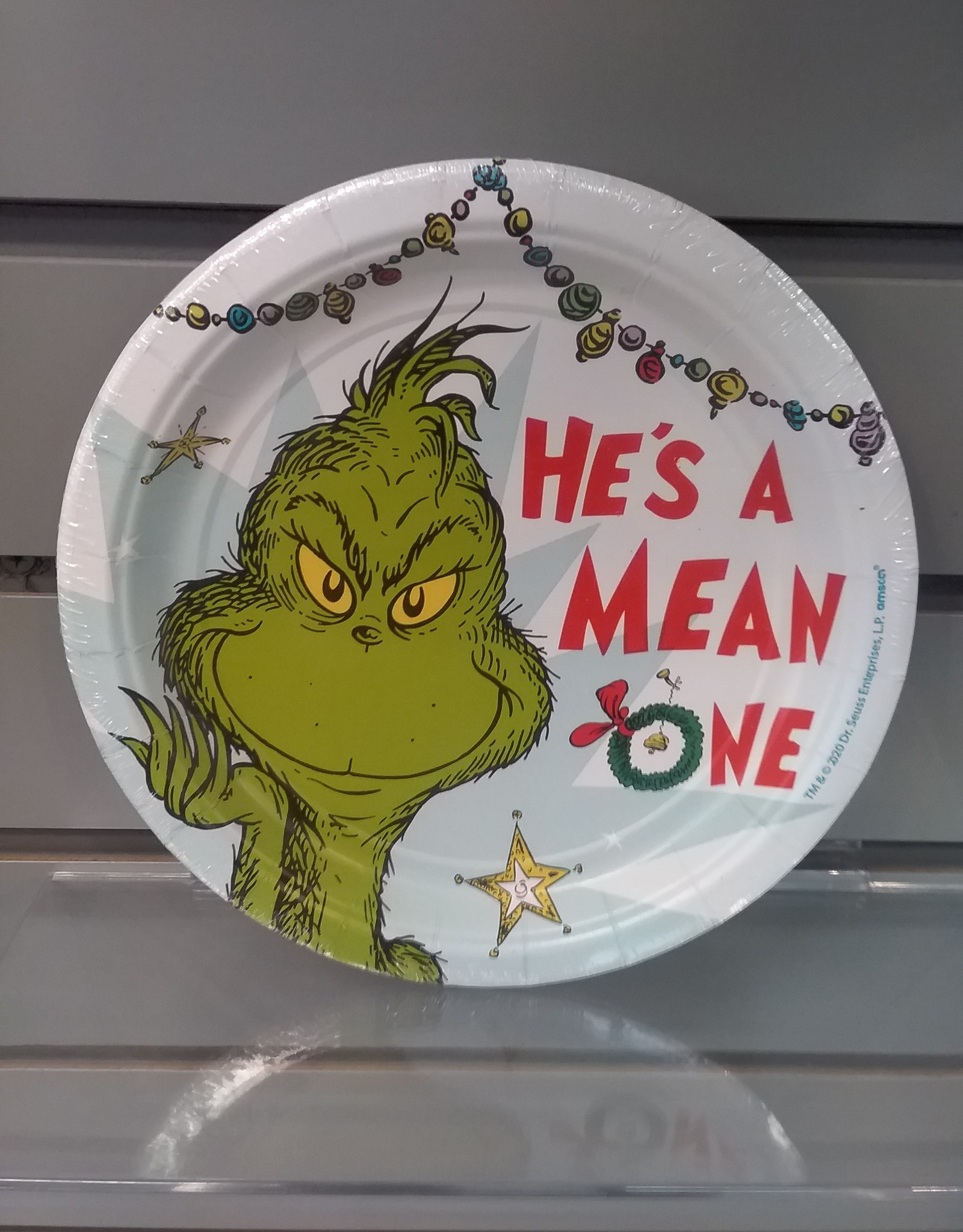 """Christmas Grinch 7"""" Paper  Plates 8ct"""