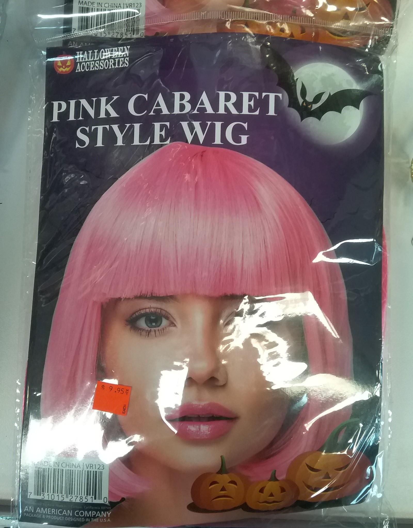 Pink Cabaret Wig