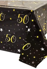 happy 50th birthday table cover