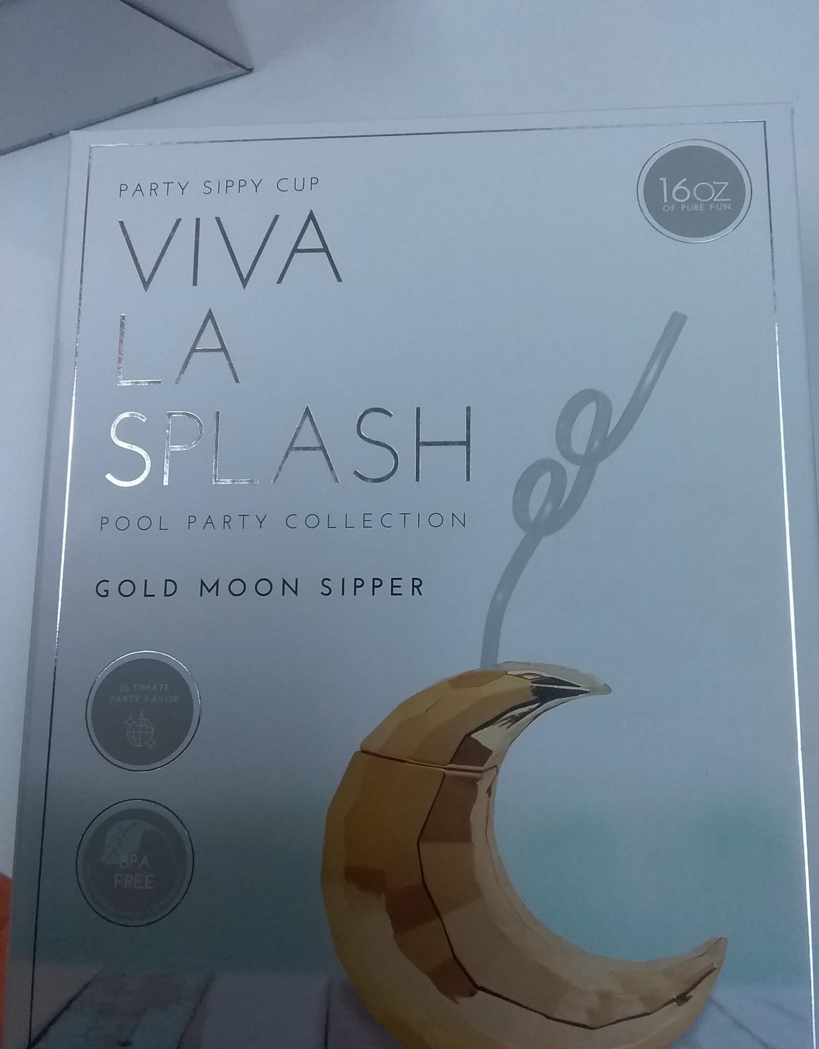 Viva La Splash Gold Moon Sipper