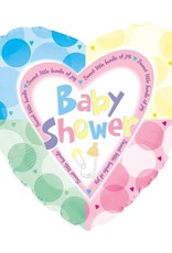 "18"" Baby Shower Pastel Dots Balloon"